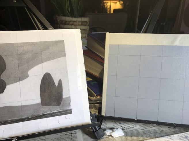 grid and painting